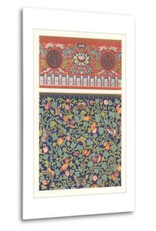 Oriental Floral Patterns--Metal Print
