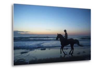 A Cowboy on Virginia Beach, Virginia-Joel Sartore-Metal Print