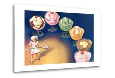 Puddings and Ice Cream--Metal Print