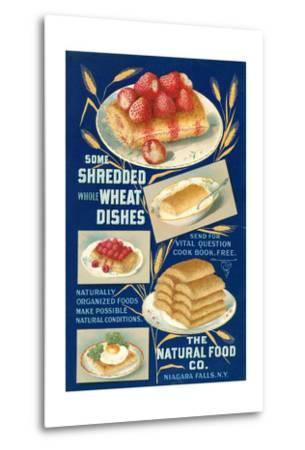 Shredded Wheat Dishes--Metal Print