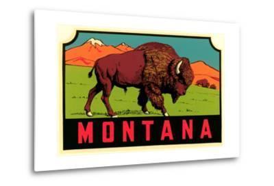 Montana Decal--Metal Print