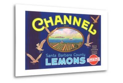 Channel Lemon Label--Metal Print