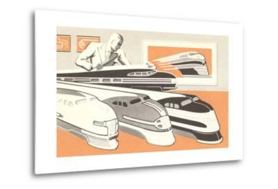 Streamlined Trains--Metal Print