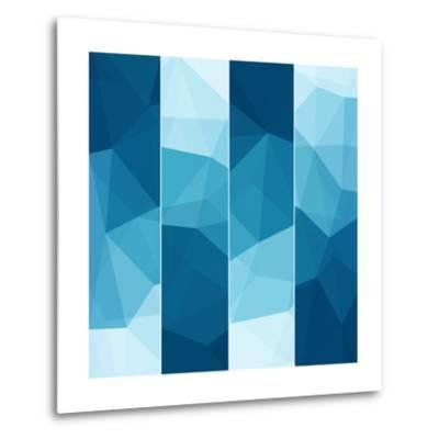 Set of Abstract Blue Background-epic44-Metal Print