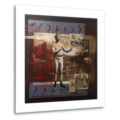 A Collage Depicts Famous Sports Figures from the Twentieth-Century-Fred Otnes-Metal Print