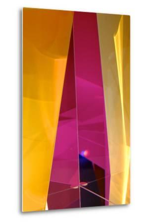 Dazzling Abstract Color in a Close Up View of a Small Detail of Glass Artwork-Paul Damien-Metal Print