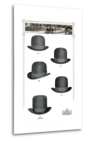 Five Men's Hats Advertisement, 1910s--Metal Print