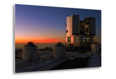 Dusk at the Very Large Telescope Operated by the European Southern Observatory on Cerro Paranal-Babak Tafreshi-Metal Print