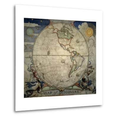 N.C. Wyeth's Painting of the Western Hemisphere-Newell Convers Wyeth-Metal Print