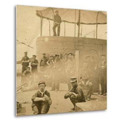 Crew on the Deck of the USS Monitor, 1862-James F^ Gibson-Metal Print