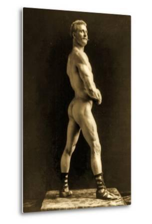 Eugen Sandow, in Classical Ancient Greco-Roman Pose, C.1893-Napoleon Sarony-Metal Print