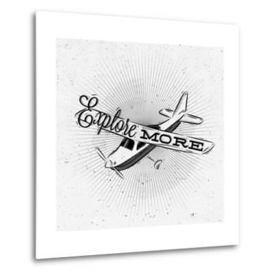 Tourist Poster Plane-anna42f-Metal Print