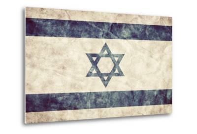Israel Grunge Flag. Vintage, Retro Style. High Resolution, Hd Quality. Item from My Grunge Flags Co-Michal Bednarek-Metal Print