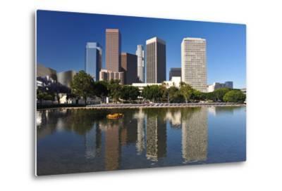 Los Angeles City Skyline-rebelml-Metal Print