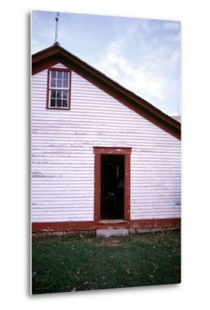 Old farmhouse in rural Indiana, USA-Anna Miller-Metal Print