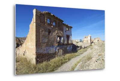 Belchite Village Destroyed in a Bombing during the Spanish Civil War, Saragossa, Aragon, Spain-pedrosala-Metal Print