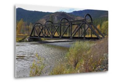 Kettle Valley Rail Bridge over the Nicola River-digimax-Metal Print