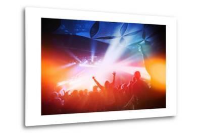 Music Concert. Instagram Effect-soupstock-Metal Print