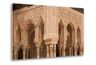 Patio of the Lions Columns from the Alhambra Palace-Lotsostock-Metal Print