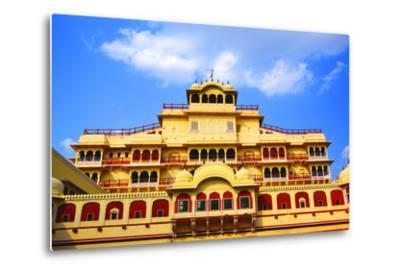 Chandra Mahal in City Palace, Jaipur,-prasenjeet1-Metal Print