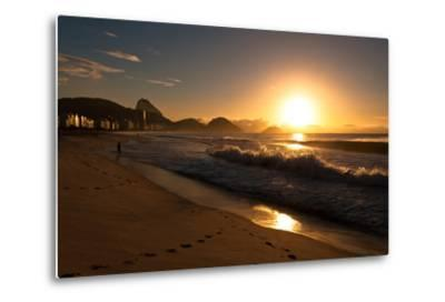 Sunrise in Copacabana Beach-dabldy-Metal Print