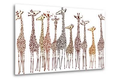 Giraffes-Milovelen-Metal Print