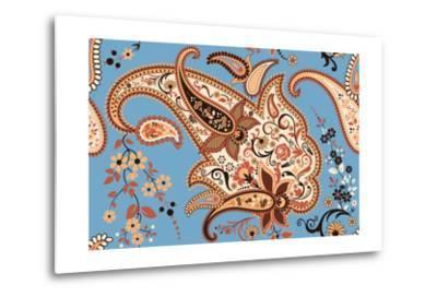 Paisley Seamless Pattern-Milovelen-Metal Print