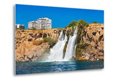 Waterfall Duden at Antalya Turkey - Nature Travel Background-Nik_Sorokin-Metal Print