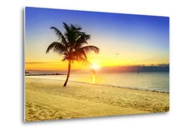 Sunset on the Beach-vent du sud-Metal Print