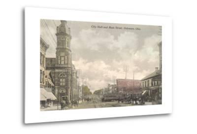 Main Street, City Hall, Delaware, Ohio--Metal Print