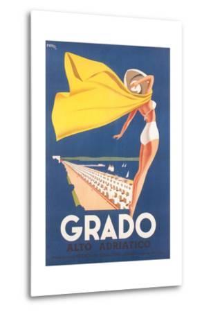 Travel Poster for Grado--Metal Print