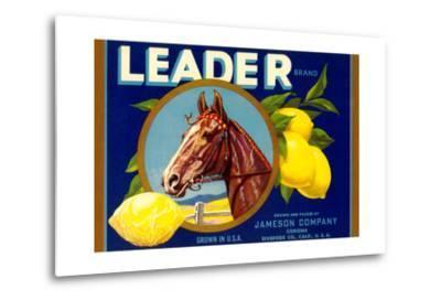 Leader Lemon Label--Metal Print
