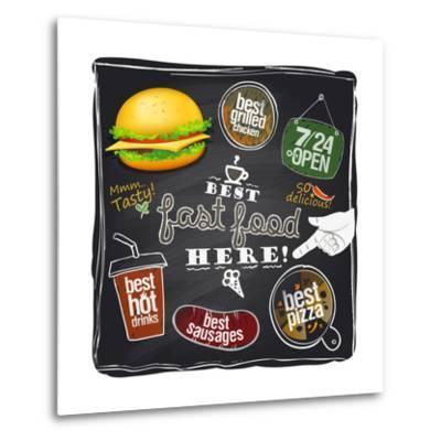 Best Fast Food Here-Selenka-Metal Print