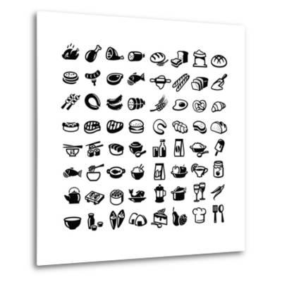 Food Icons-bioraven-Metal Print