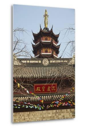A Ming Dynasty, 15th-16th Century, Pagoda at Jiming Temple, Nanjing, Jiangsu Province, China-Nigel Hicks-Metal Print