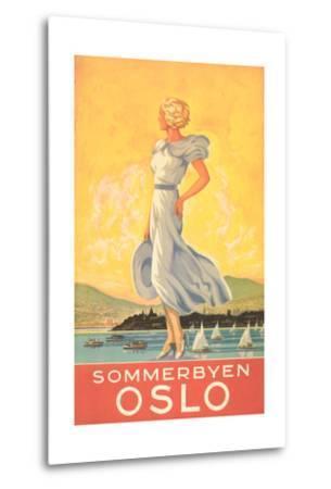 Oslo Travel Poster--Metal Print