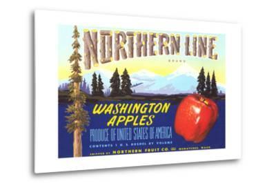 Northern Line Apple Label--Metal Print