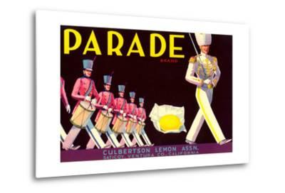 Parade Lemon Label--Metal Print