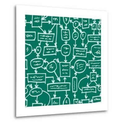 Crazy Management Flowchart-YKh-Metal Print