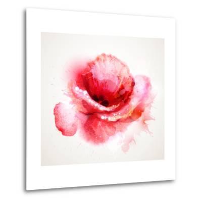 The Flowering Red Poppy-artant-Metal Print