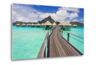 The Boardwalk to the Over-Water Bungalows at the Le Meridien Resort-Mike Theiss-Metal Print