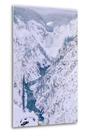 The View of the Lower Falls of the Yellowstone from Artist Point-Tom Murphy-Metal Print