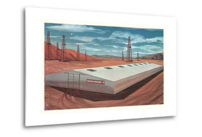 Futuristic Pre-Fab Factory--Metal Print