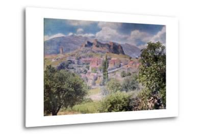 The Fortress Clissa Stands Tall Behind the Village Klis-Hans Hildenbrand-Metal Print