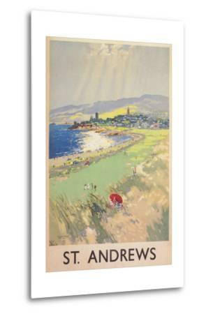 Poster of St. Andrews Golf Course--Metal Print