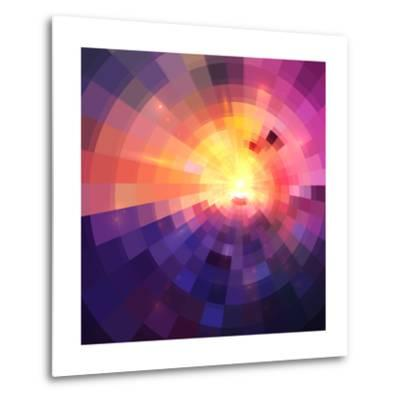 Abstract Colorful Shining Circle Tunnel Background-art_of_sun-Metal Print