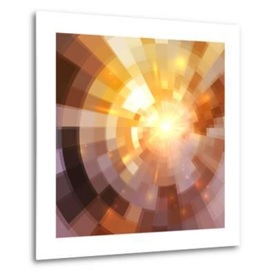 Abstract Shining Mosaic Background-art_of_sun-Metal Print