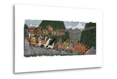 A Victorious Inca Emperor and His Army March Home to Cuzco-Ned M. Seidler-Metal Print