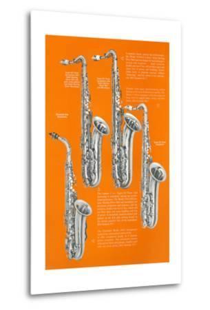 Four Saxophones--Metal Print