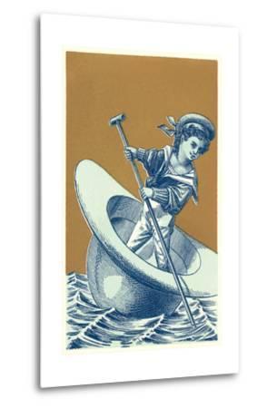 Little Sailor in Hat--Metal Print